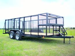 16 X 76 In Angle Top Tandem Axle Landscape Trailer