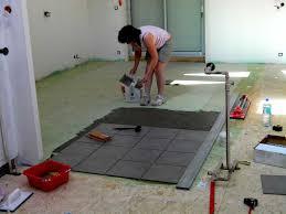 pose carrelage plancher bois fabulous ragreage sur plancher