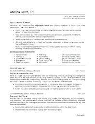 Sample Resume For Pediatric Nurse