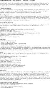 Examples Of Resumes For Nurses Nursing Resume Samples