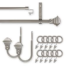 Bed Bath And Beyond Curtain Rod Rings by Unique Square Pewter Decorative Window Hardware Bed Bath U0026 Beyond