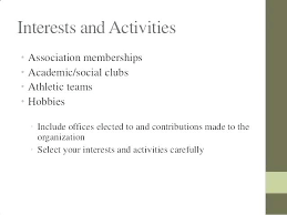 Hobbies Resume Examples And Interests On A Curriculum