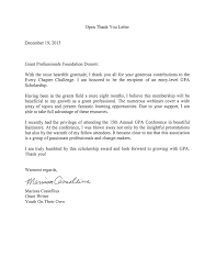 thank you letter to Templatesanklinfire