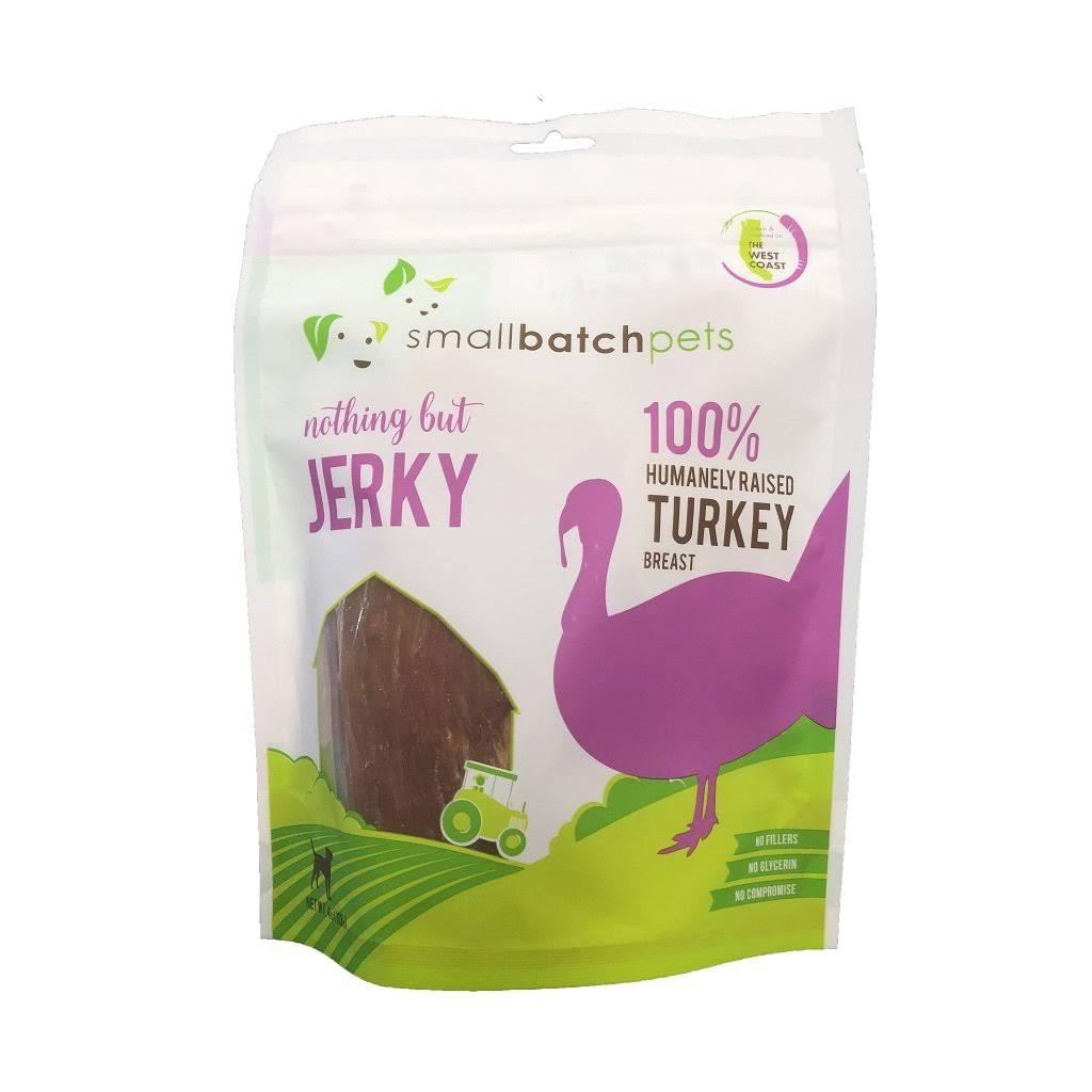 Smallbatch Jerky Dog Treats - Turkey, 4 oz