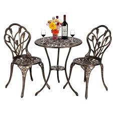 2019 European Style Cast Aluminum Outdoor Tulip Bistro Set Of Table And  Chairs Bronze From Willwangtrade888, $147.59 | DHgate.Com Outdoor Chairs Set Of 2 Black Cast Alinum Patio Ding Swivel Arm Chair New Elisabeth Cast Alinum Outdoor Patio 9pc Set 8ding Details About Oakland Living Victoria Aged Marumi In 2019 Armchair Cologne Set Gold Palm Tree Outdoor Chairs Theradmmycom Allinum Fniture A Guide Alinium Rst Brands Astoria Club With Lawn Garden Stools Bar Modway