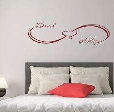 mode benutzerdefinierte wandtattoos unendlichkeit sign herz familie namen hause wandaufkleber schlafzimmer vinyl kunst decor sie wählen name und farbe