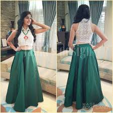 Indian Crop Top Skirt Ethnic Pinterest Skirts Crop Tops And