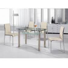 glass dining table and chairs set sl interior design