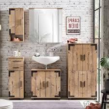 badezimmer spiegelschrank mit led toulouse 04 in silberfichte nb b x h x t ca 70 5 x 72 5 x 23 7 cm