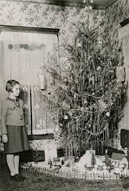 1930s Girl With Christmas Tree Putz