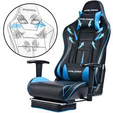 GTracing Gaming Chair Ergonomic Office Chair With Footrest ... Costco Gaming Chair X Rocker Pro Bluetooth Cheap Find Deals On Line Off Duty Gamers Maxnomic Dominator Gamingoffice Gaming Chair Star Trek Edition Classic Office Review Best Chairs Ever Maxnomic By Needforseat Brazen Shadow Pc Chairs Amazoncom Pro Breathable Ergonomic Rog Master Akracing Masters Series Luxury Xl Blue Esport L33tgamingcom Vertagear Pline Pl6000 Racing