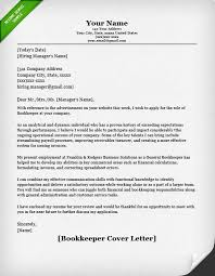 Bookkeeper Resume Cover Letter Example