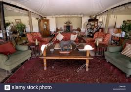 living room in luxury Cottars 1920 s Tended Camp Masai Mara
