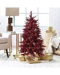 4ft Christmas Tree Sale by Deals On 4 Ft Burgundy Tinsel Pre Lit Medium Christmas Tree