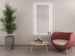 moderner wandspiegel beleuchtet lena