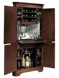 Corner Wine Bar Cabinet And Open Dining Table Remodeling