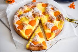 aprikosenkuchen mit vanillepudding blackforestkitchenblog