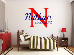 Nathan Boy Room Wall Decals Classic Fabulous Graphics Alphabet