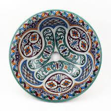 casa moro aufsatzwaschbecken orientalische keramik waschbecken fes51 ø 35 cm rund bunt marokkanische aufsatzwaschbecken handbemalt handwaschbecken