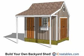 10x12 colonial shed plans with covered porch 10x12 shed plans