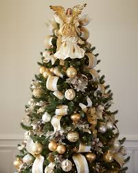 Silver And Gold Christmas Tree Angel Topper