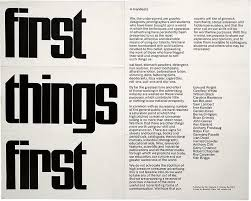 First Things 1964 Manifesto The Was Written In 29 November 1963 And Published By Ken Garland