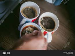 Man Making Coffee A Married With Ring On Her Finger Brew Your