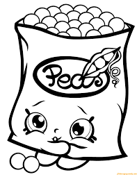 Freezy Peazy Shopkin Season 1 Coloring Page Free Pages