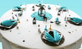 décoration de table entre terre et mer côté adulte