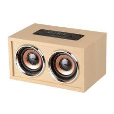 100 Speaker Boxes For Trucks W4 Wireless Bluetooth Wooden Stereo Box Mini Music