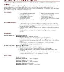Sample Resume Computer Science Engineering Lecturer