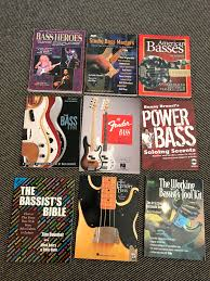 Large Selection Of Bass Guitar Books