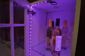 inspired led color changing rgb inside wine cabinet contemporary