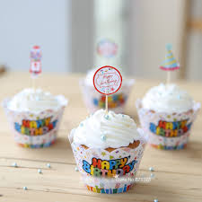 happy birthday decoration baby shower for party cupcake wrappers free shipping kids children child fancy cup