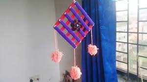 Ice Cream Stick Woolen Craft Idea