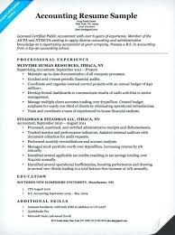 Resume Examples For Accounting Example Samples Professionals