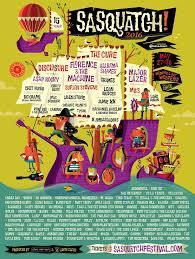 2016 Sasquatch Festival Poster