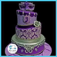 Purple & Lavender Quinceanera Birthday Cake