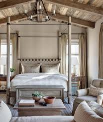 Modern Rustic Bedroom by David Michael Miller Associates