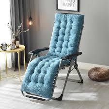 Lamb Velvet Fabric Winter Soft Recliner Chair Thickened Lamb Velvet Seat  Pad Replacement Cushion Pad Garden Sun Lounger