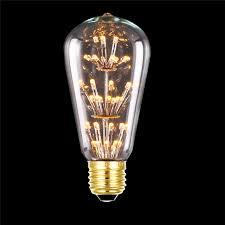 e27 220v 3w led light bulb squirrel cage vintage glass edison