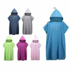 Changing Towel Microfiber Surf Robe Quick Dry Hooded Poncho Beach Sunscreen Cloak Great For