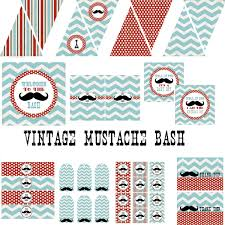 Vintage Mustache Bash Decorations For Boys Birthday Party Or