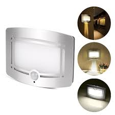 motion sensor activated led wall sconce battery operated wireless