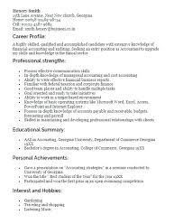 Profile On Resume Sample Template Student Examples For Administrative Assistant