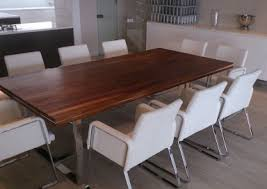 Solid Kiatt And Stainless Dining Table