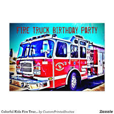 Colorful Kids Fire Truck Birthday Party Invitation | Kid's Birthdays ... Fire Trucks Sunflower Storytime Truck Toy For Kids Boys Age 2 3 4 5 6 Year Old Lights And Kid Trax Brush Dodge Licensed 12v Ride On On Behance Power Wheels Race Policeman Sidewalk Cop Vs Fireman Clipzuicom Kids Firetruck Rideon Suv Car W Speeds Lights Aux Best Ciftoys Amazing Engine Toy Large Bump Go Red Firefighter With Hand Isolated White Background Alloy Model Aerial Ladder Water Tanker 9 Fantastic Junior Firefighters Flaming Fun Unboxing Review Riding Youtube This Is A Little Dream A Thrifty Mom Recipes Crafts Fire Truck For Kids Power Wheels Ride On