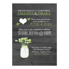 Wedding Reception Only Mason Jar Rustic Invitation Spring Engagement Party Shower Or Anniversary