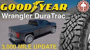 100 Goodyear Wrangler Truck Tires DuraTrac 3000 Mile Update YouTube