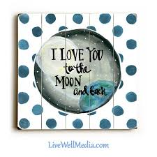 Art For Kids I Love You To The Moon And Back Sign Signs